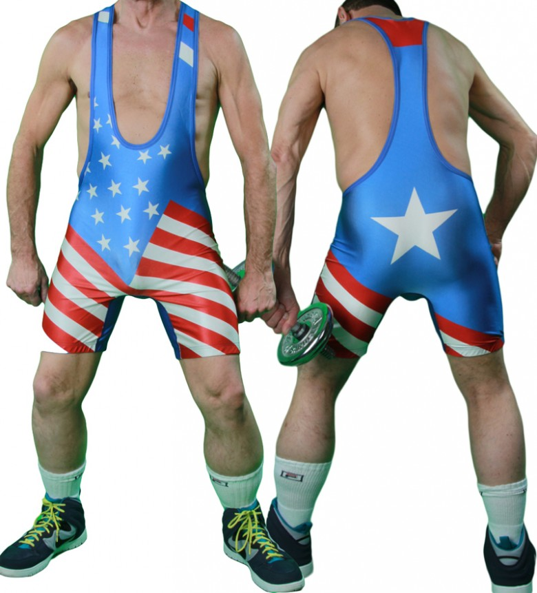 American-Flag-School-Team-Wrestling-Singlet-Weight-Lifting-font-b-Gym-b-font-font-b-Outfit